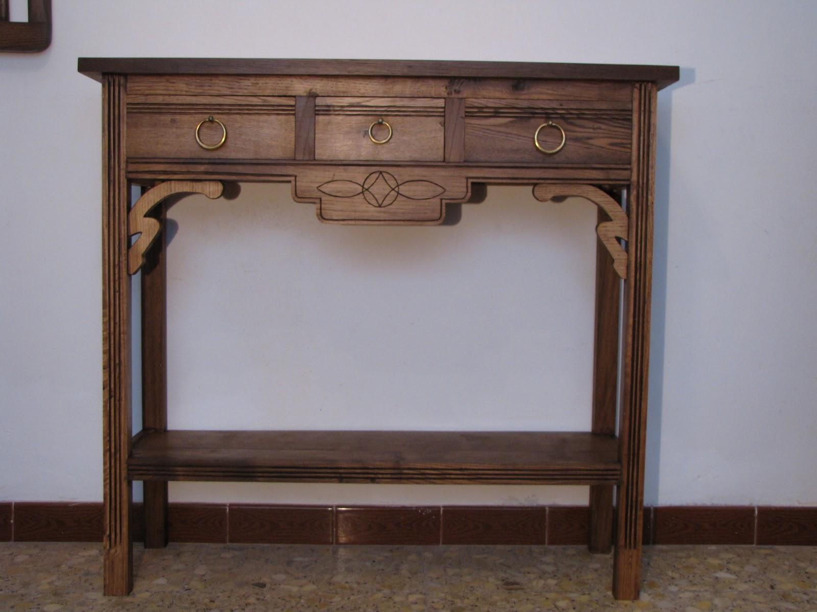 Muebles de madera restaurada aparador en casta o y cerezo - Muebles de castano ...