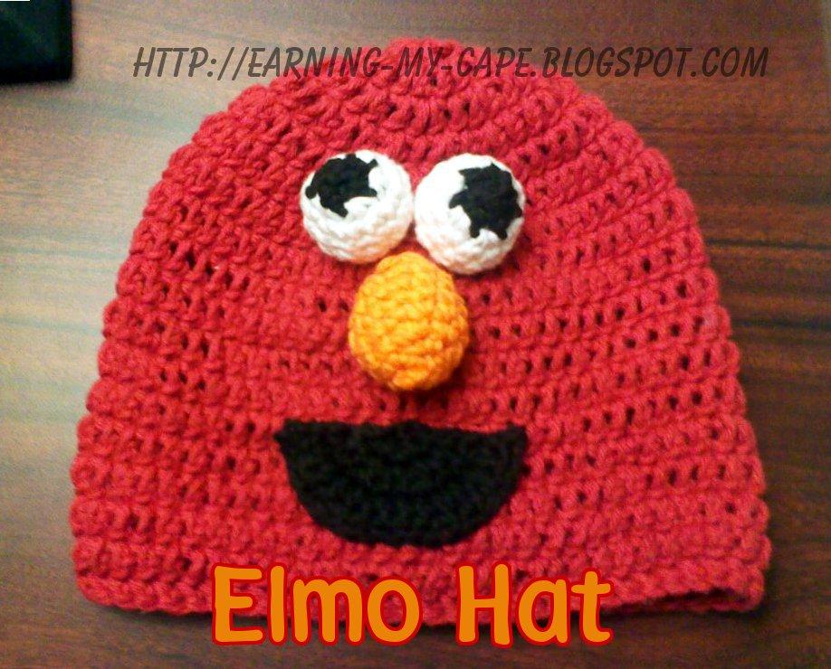 Earning My Cape Crochet Elmo Hat