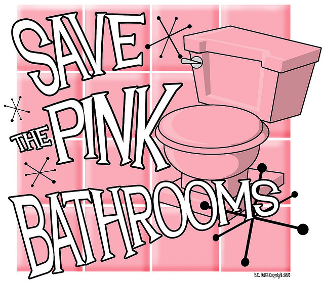 Pink And Other Pastel Colored Bathrooms Are Being Torn Out Left And Right. Save  The Pink Bathrooms Is A Website Dedicated To Try To Preserve Pink Bathrooms  ...