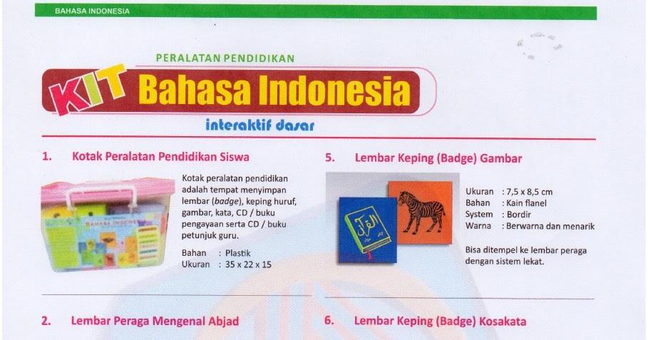 KIT Bhs Indonesia Interaktif,Asaka Prima , Produsen Alat Peraga, KIT Bahasa Indonesia Interaktif Dasar,Alat Peraga Bahasa Indonesia Interaktif Dasar