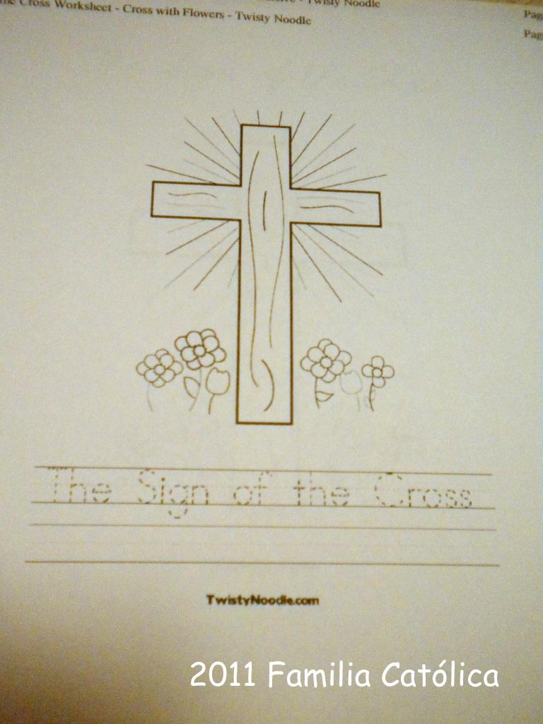 Familia Católica: Páginas para colorear para el día de la Santa Cruz ...