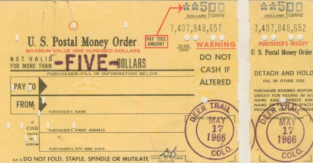 how to buy money order at post office