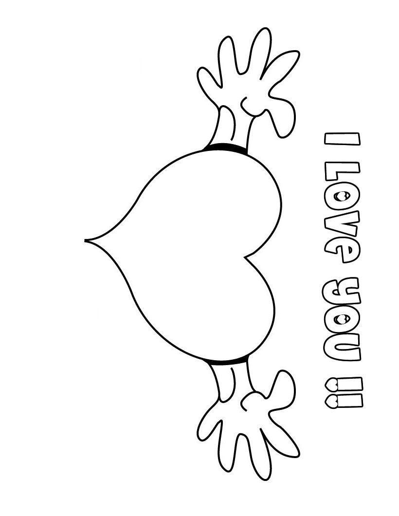 Coloring Pages Love : Quot i love you coloring pages gt disney