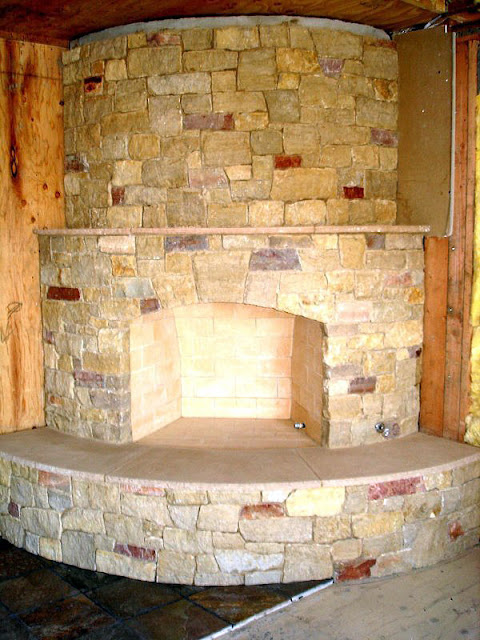 Curved Corner Fireplace 480 x 640