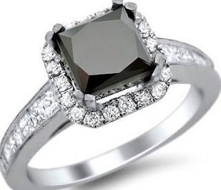 black diamond engagement rings princess cut