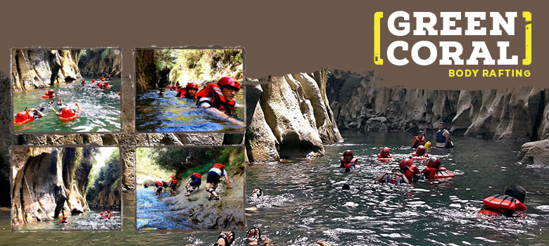 body rafting curug taringgul