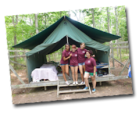 Girl Scouts of Nassau County at Camp Blue Bay Summer Tent Camping