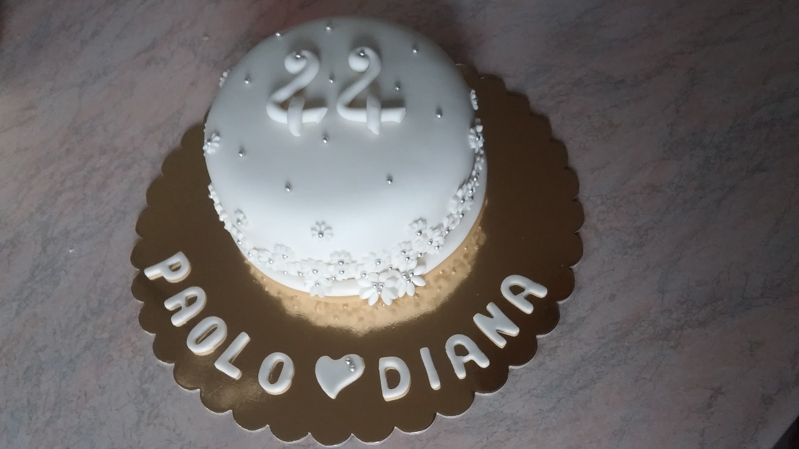 Torta Floreale per Anniversario