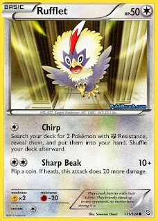 Rufflet Dragons Exalted Pokemon Card