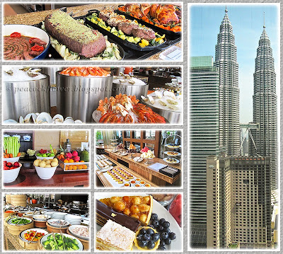 Delicious food spread with Petronas Twin Towers at Thirty8, March 8 2015
