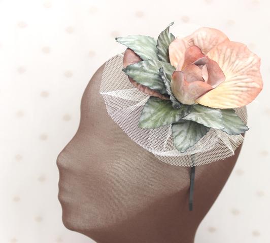 Colección Bailando Swing - Diadema Tul flor rosa