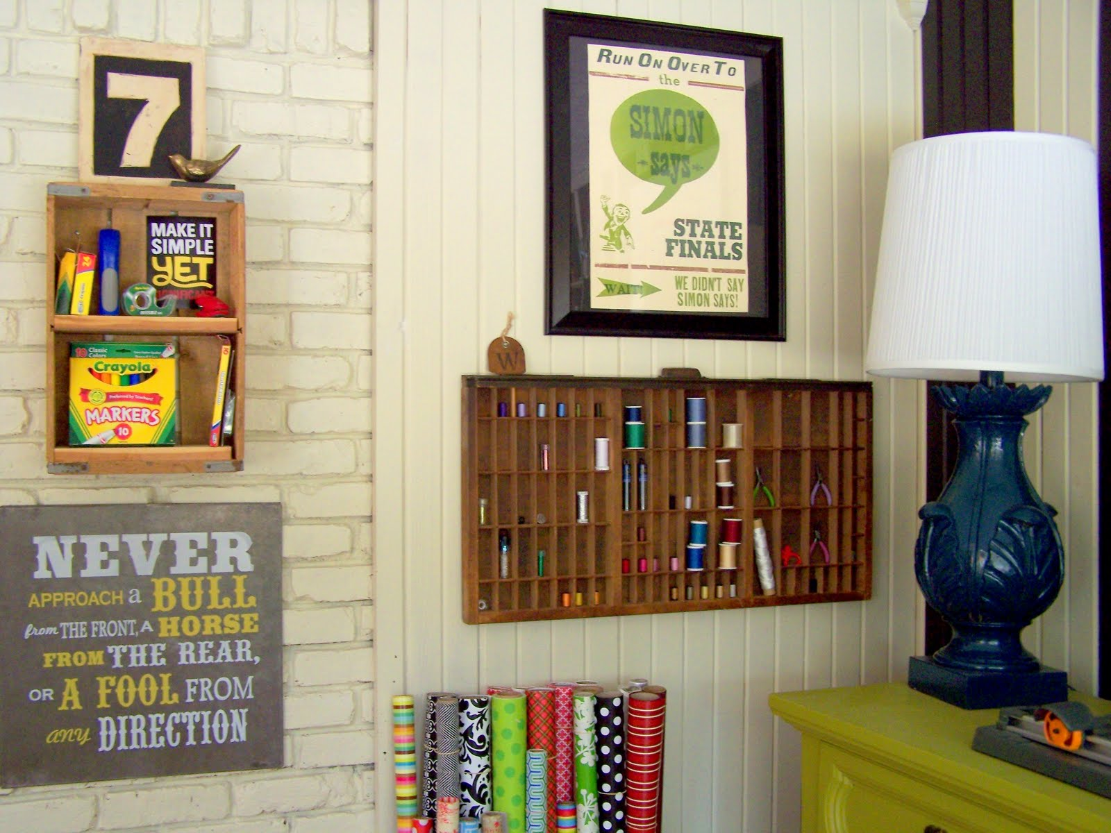 How to create a budget craft room