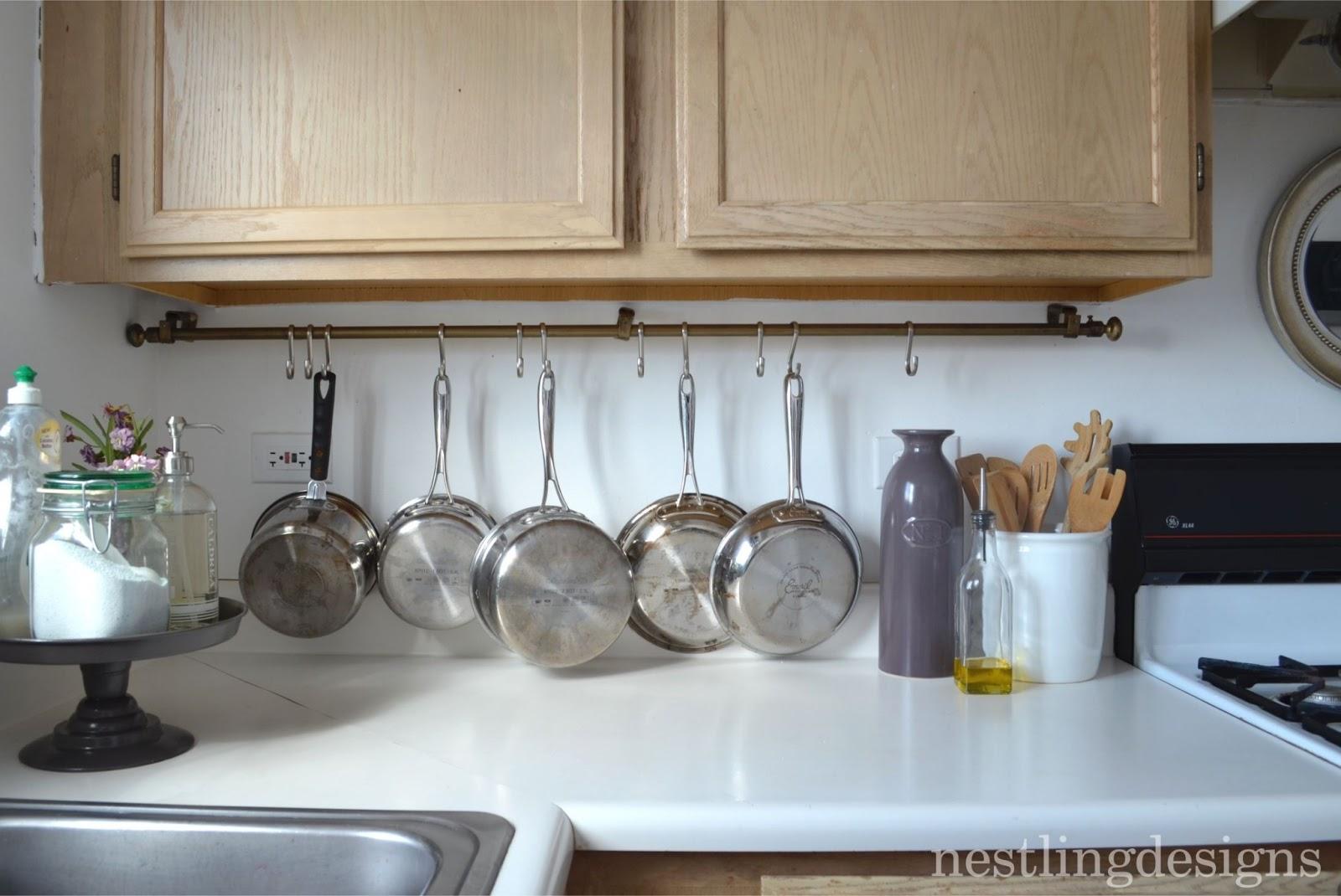 Nestling One Room At A Time DIY Hanging Pot Rack