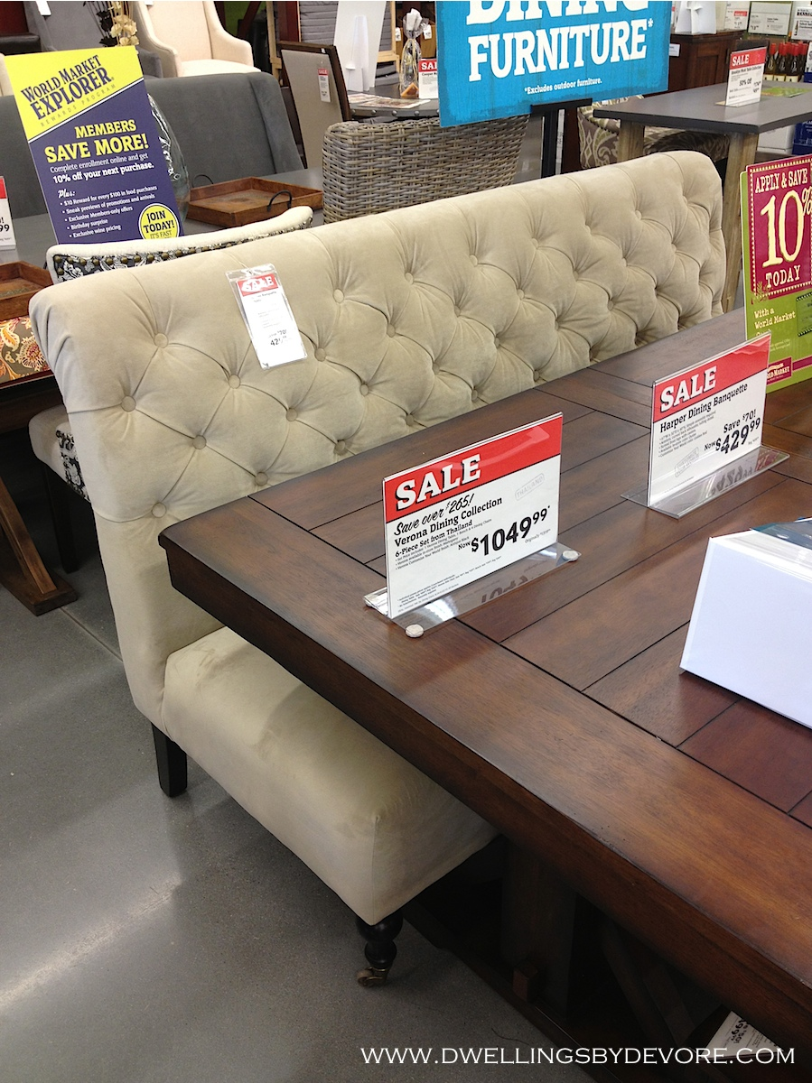 upholstered benches for dining tables wooden dwellings by devore around world market