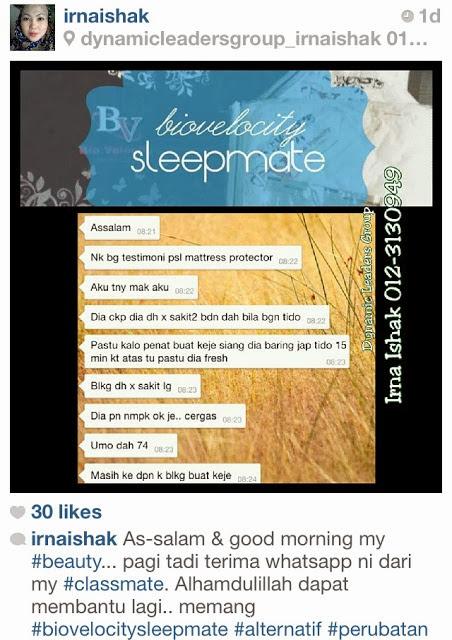 bio velocity sleep mate, pelapik tilam, tidur berkualiti, stress, gout, imsonia