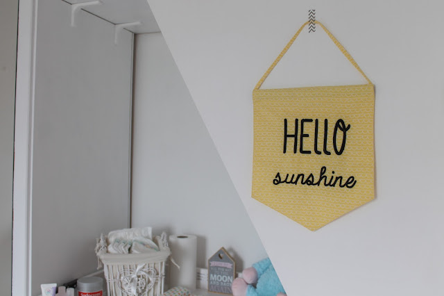 yellow hello sunshine flag