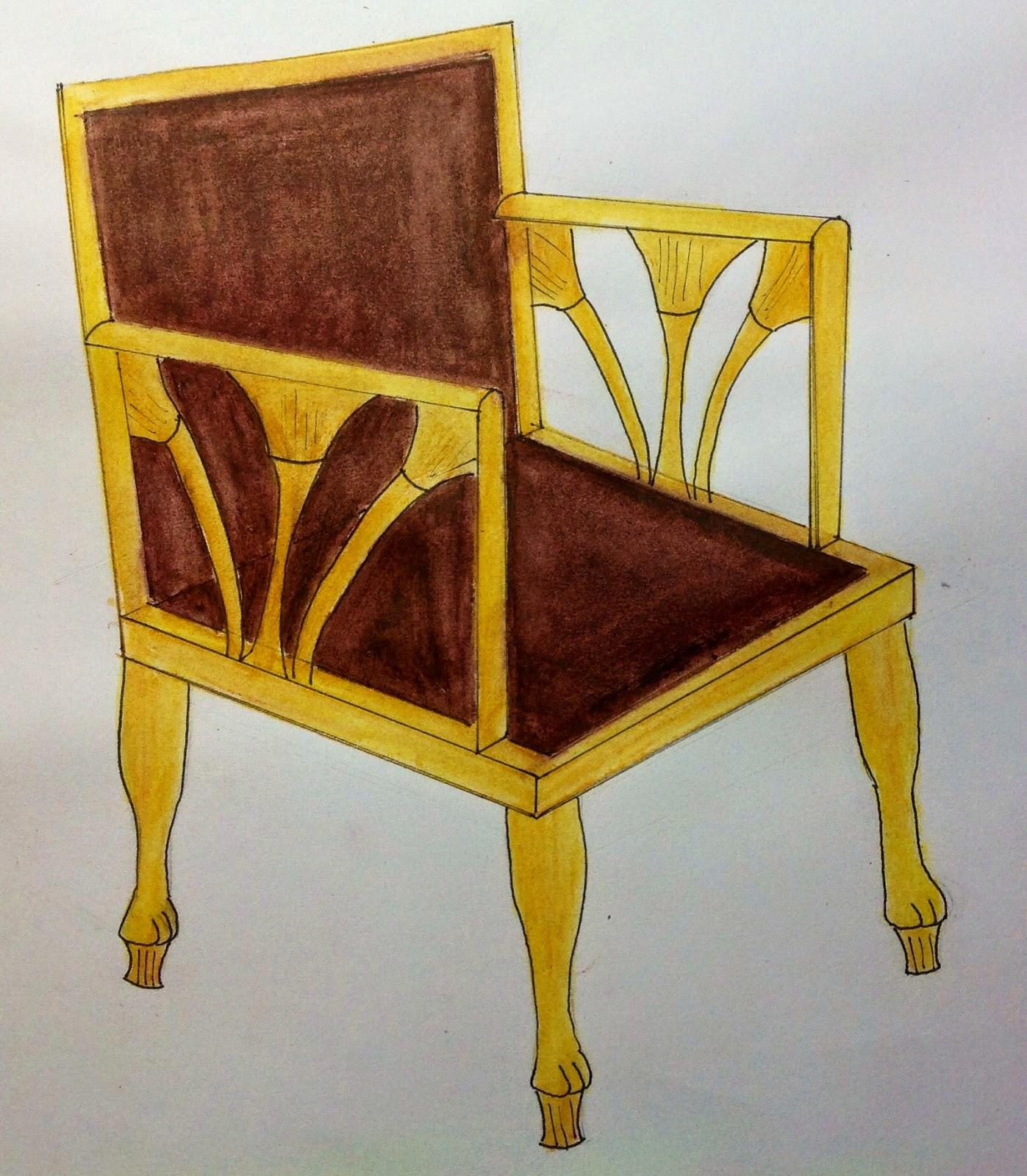 historia con gloria muebles egipcios