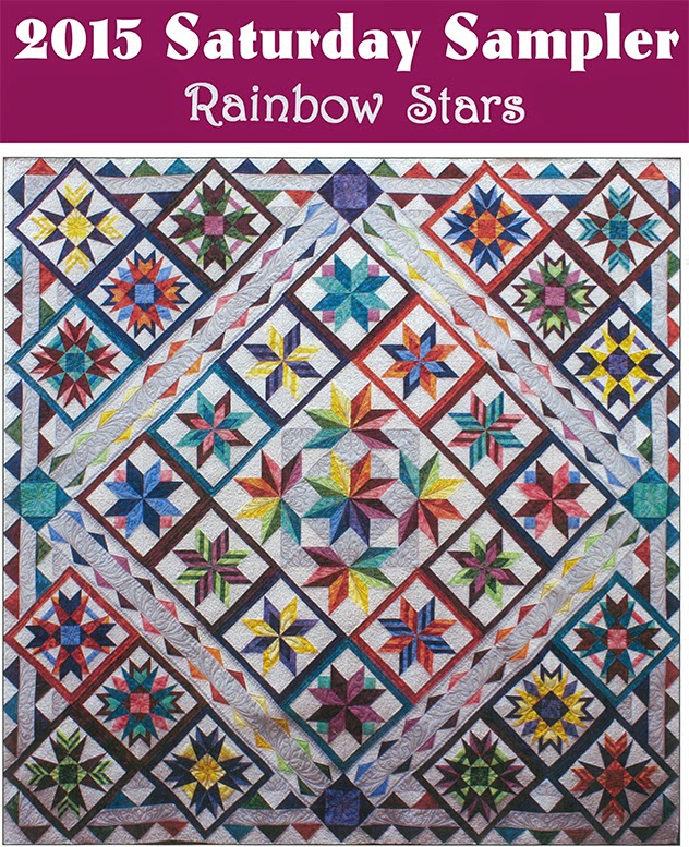 2015 Saturday Sampler Club - Rainbow Stars Quilt