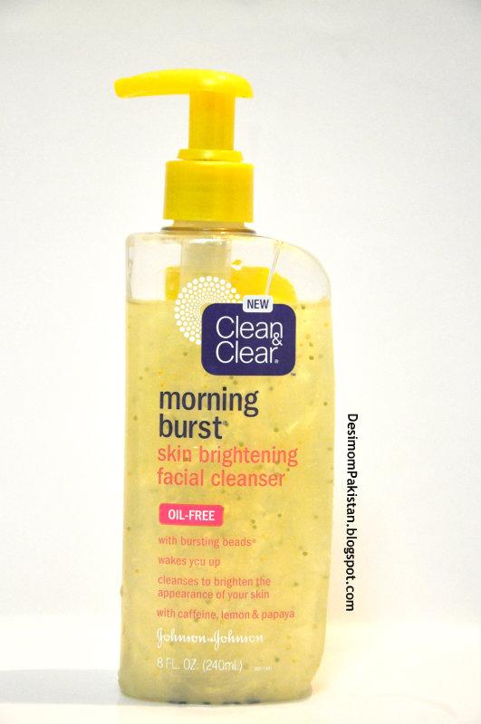 CLEAN N CLEAR MORNING BURST SKIN BRIGHTENING FACIAL CLEANSER