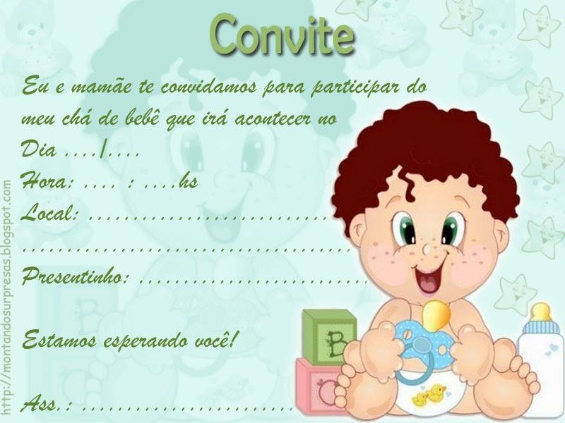 Convite para chá de bebê passo a passo 2