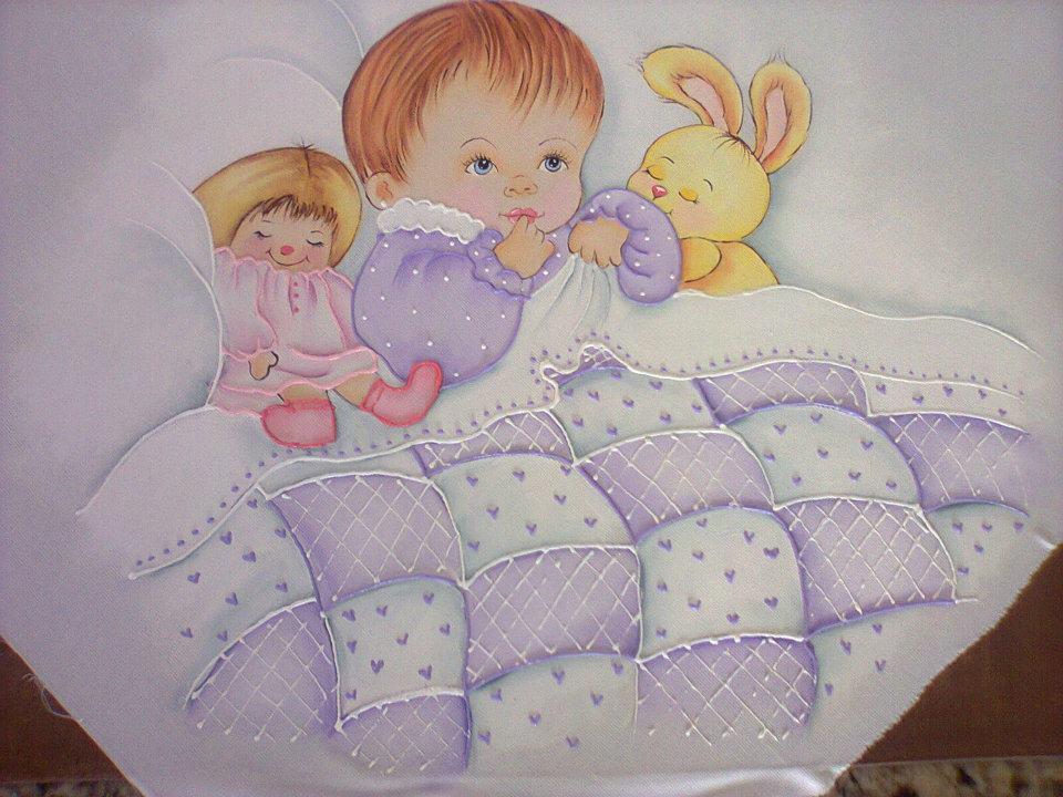 As artes da v vania manta de beb - Dibujos para pintar en tela infantiles ...