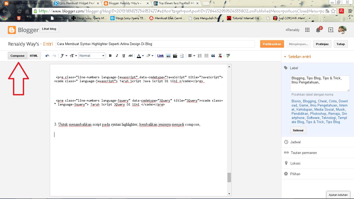 Cara Membuat Prism Syntax Highlighter Keren Di Blog
