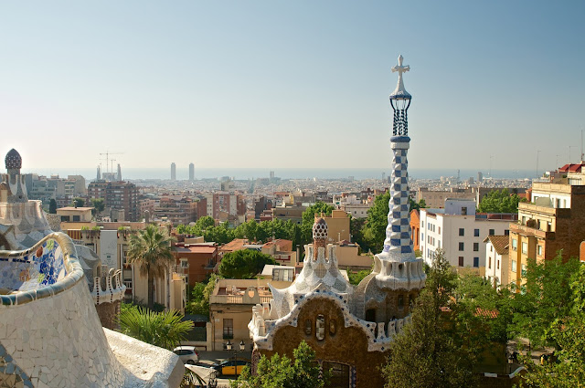 Barcelona, Spanyol,Eropa,Wisata,Travelling, Park Guell, Antoni Gaudi