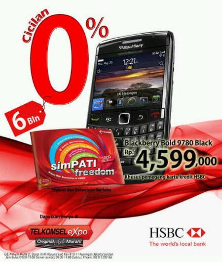 Daftar harga resmi BlackBerry terbaru di outlet Telkomsel Expo.