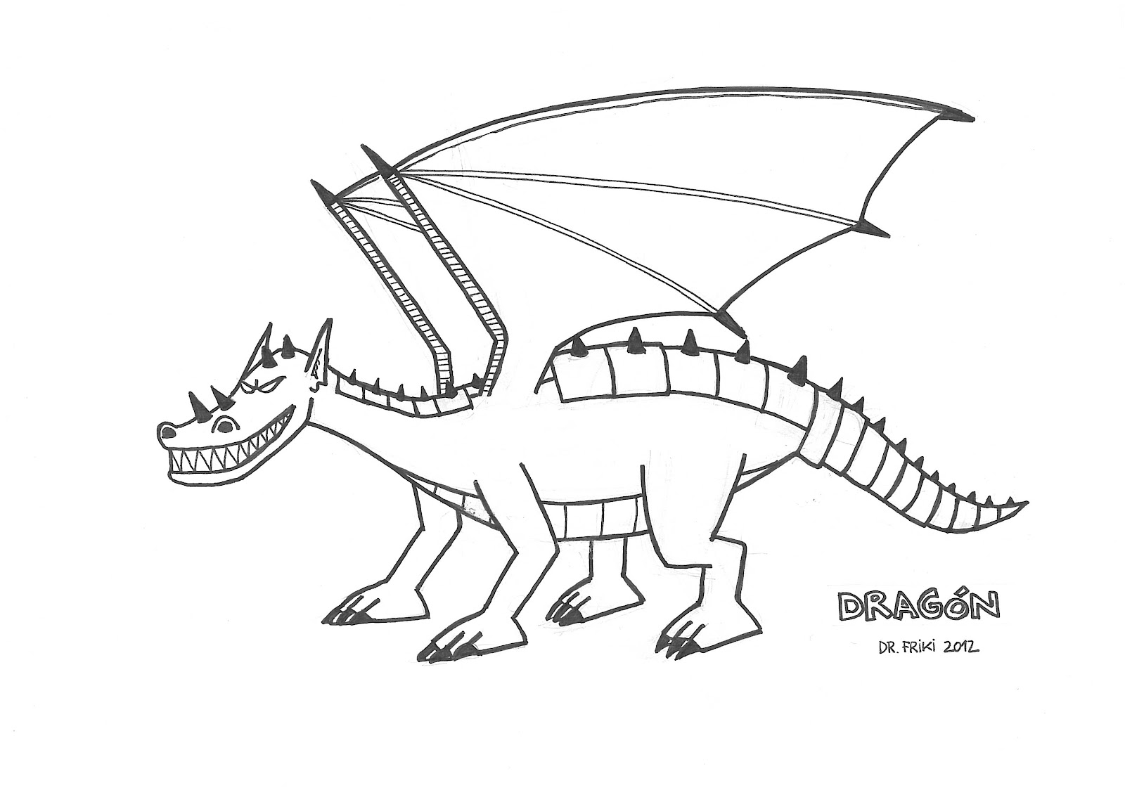 Dragon Para Dibujar. Trendy Dibujo De Dragn Para Colorear. Perfect ...