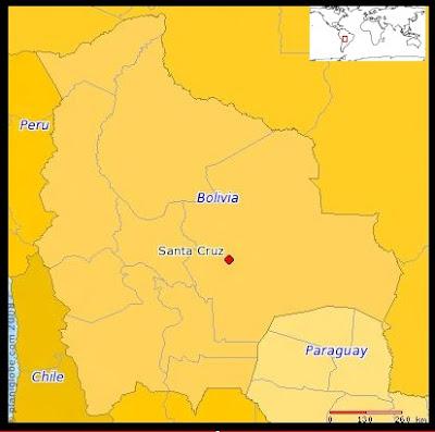 Mapa de Bolivia (PLANIGLOBE)