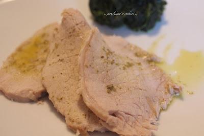 lonza di maiale al limone con salsa salmoriglio