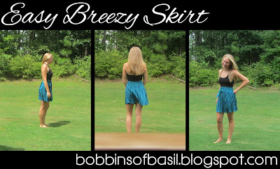 Easy breezy skirt sew along, the final product | Bobbins of Basil #easybreezyskirt