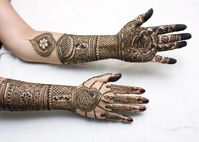 Eid latest full arm designs of mahndi