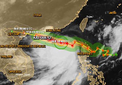 Tifón Kai-Tac azota China, 17 de Agosto 2012