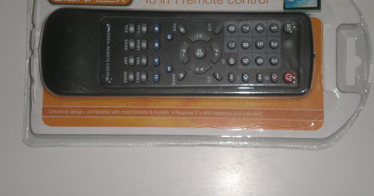 Remote Control Codes Universal Signalex 10 In 1 Remote Control