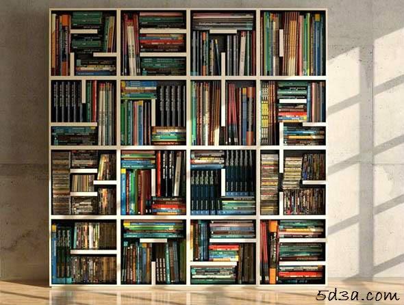 5d3a.com-موقع-خدع-بصرية -optical-illusionلقوي الملاحظة أين الخدعة فى صورة المكتبة