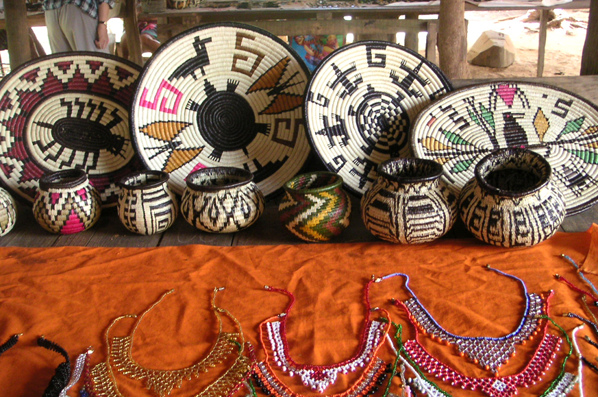 Embera animal baskets