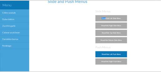 Slide Push Menu