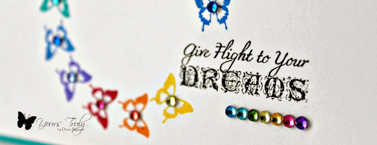Diana Nguyen, JustRite, CAS, butterfly, handmade cards