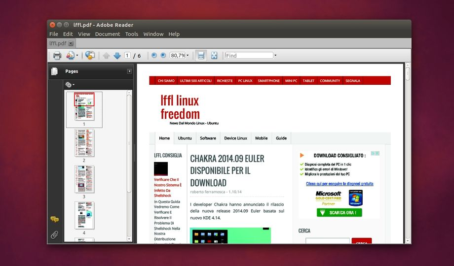 Adobe Reader in Ubuntu