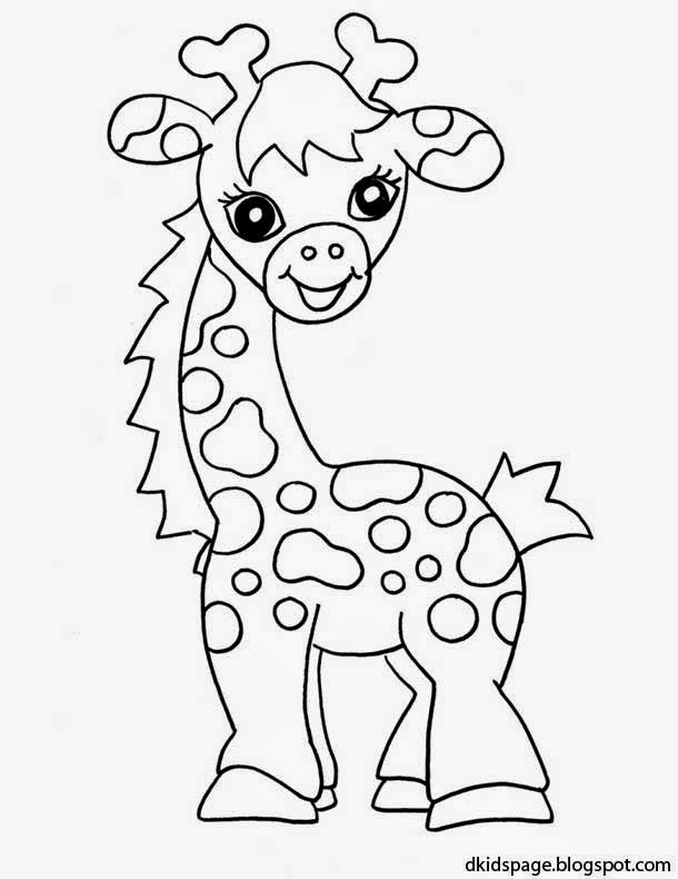 Kids page baby giraffe coloring pages printable animals for Animal coloring pages giraffe