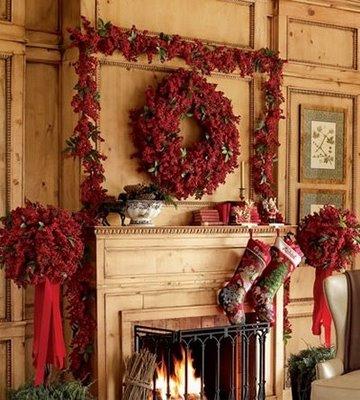 Decoraci n de interiores decora la chimenea para navidad - Decorazioni per camini ...