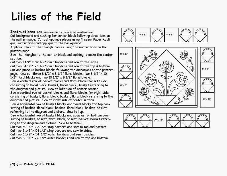 Lilies of the Field Pattern correction