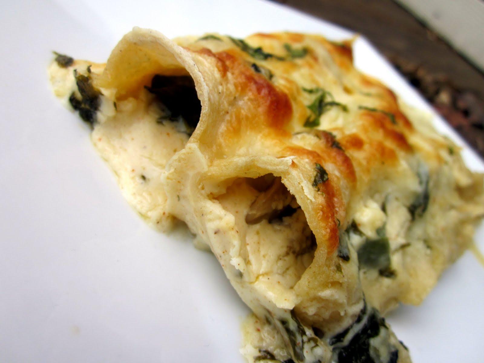 delightful country cookin': spinach mushroom enchiladas