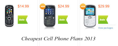 Cheapest Cell Phone Plans 2013