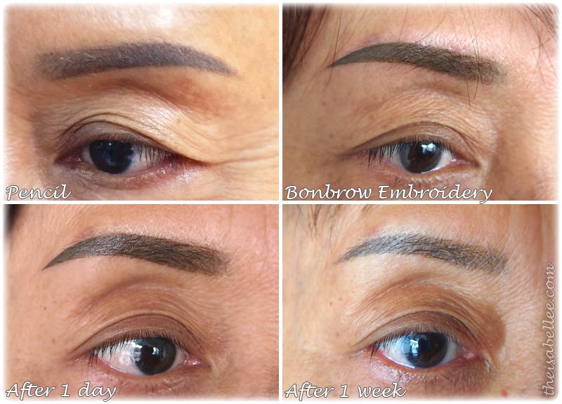 Eyebrow embroidery process at Empro