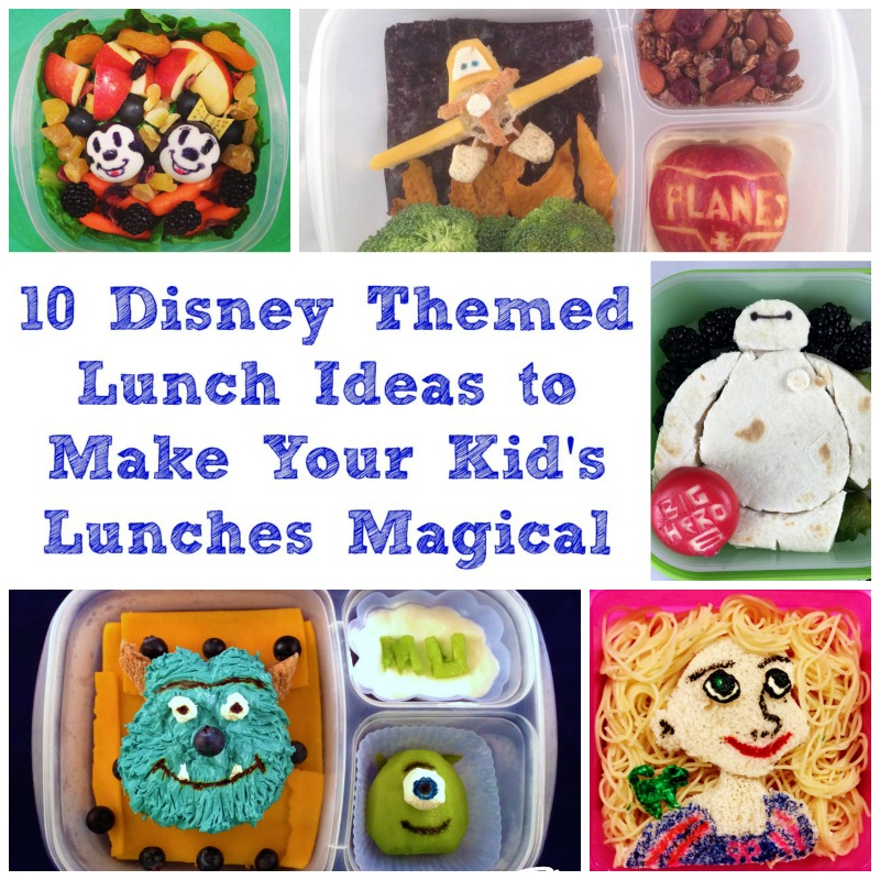 10 Disney Themed Lunch Ideas to Make Your Kid's Lunches Magical