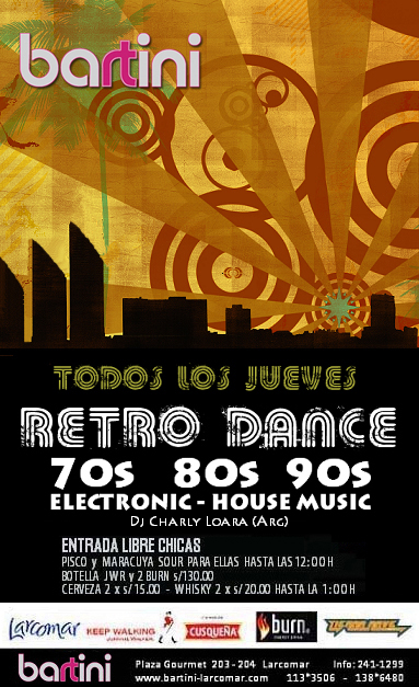 Zonabeats todos los jueves retro dance lo mejor 70s 80s for Modern 90s house music