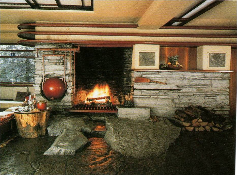 Historia de la arquitectura moderna frank lloyd wright - La casa de la chimenea ...