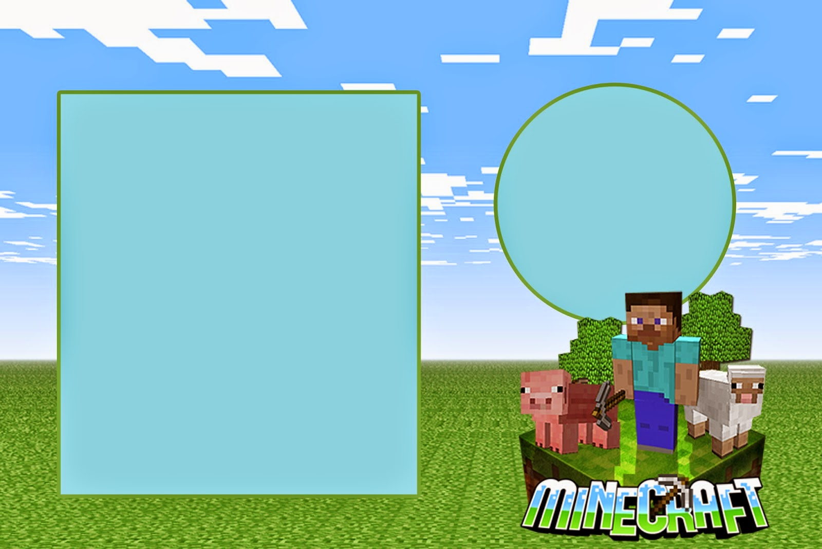 Minecraft: Free Printable Invitations. | Is it for PARTIES ...